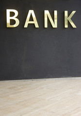 Outdoor sign of a bank