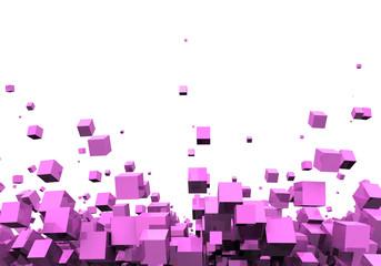 3D - Hintergrund - Pink Disco Partikel