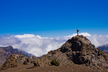 Hiking to the Top of the Haleakala Crater