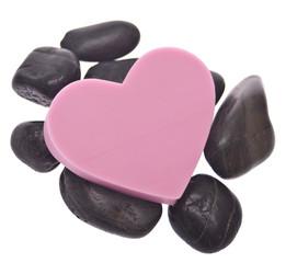 Heart on Zen Massage Stones