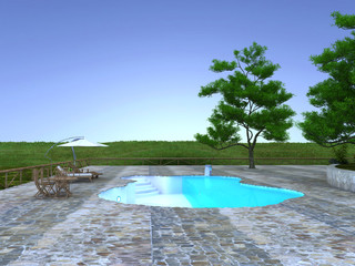 piscina zona benessere
