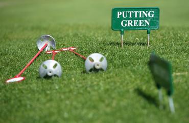 Golf, putting green