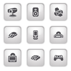 Gray button for internet 21