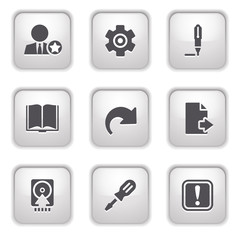 Gray button for internet 6
