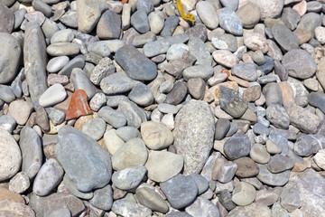 pebbles on a italian beach