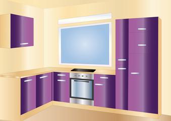 kitchen purple