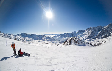 ski resort of Cervinia, Italy
