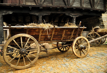 cart with hay
