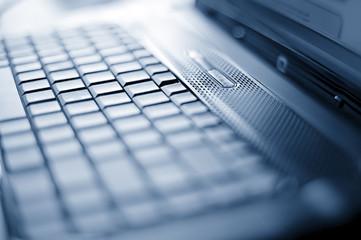 close-up laptop with shallow DOF
