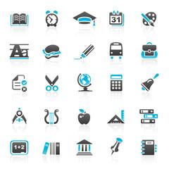 blue education icons - set 5