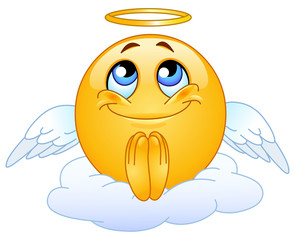 Angel emoticon