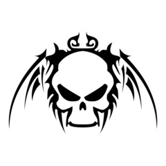 Tattoo with a skull. Vector