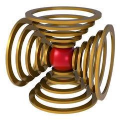 Kugel mit Ringen