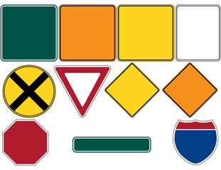 Road Signs Set 1