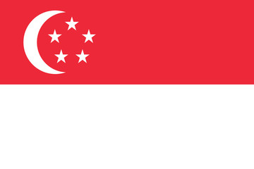 Wall Mural - Singapore Flag