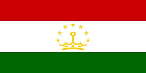 Wall Mural - Tajikistan Flag