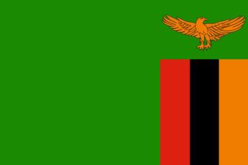 Fototapete - Zambia Flag