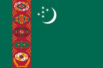 Wall Mural - Turkmenistan Flag