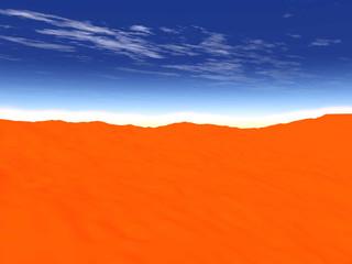 Dunes. Desert landscape.