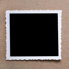 Vintage blank photograph.