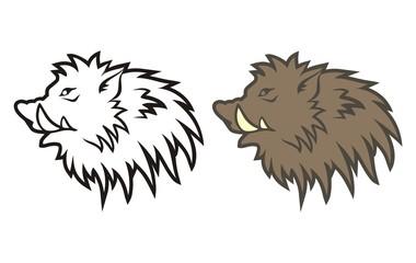 Figure boar's head