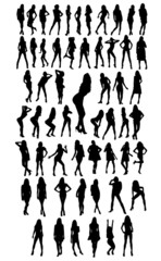 57 woman silhouettes