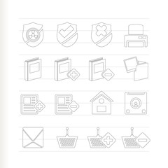 Internet and Website buttons and icons