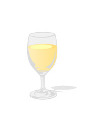 Vector illustration a glass with a drink