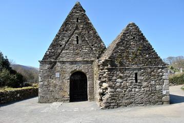 historical church glendalough ireland