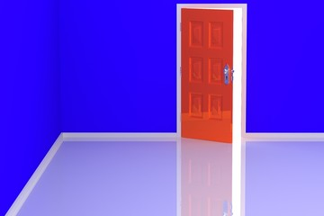 Colorful Room and Door