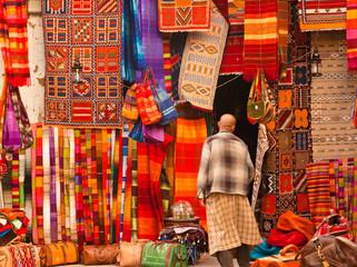 Foto op Aluminium Marokko Souk in Morroccco