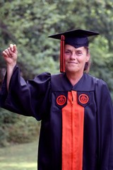 Older woman graduating college