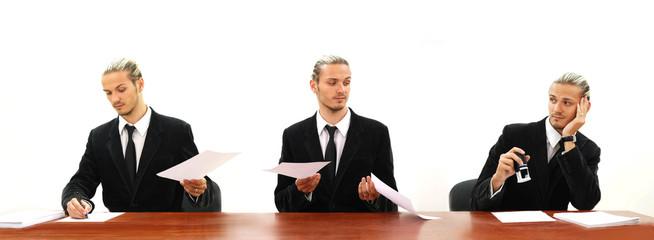 three bored bureaucrates