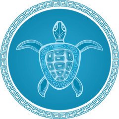abstract turtle vector symbol