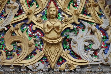 art on gable, Wat Buamas, Borabue