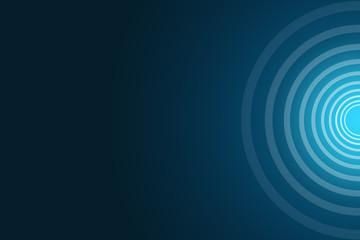 blauer Rahmen, transparente ringe