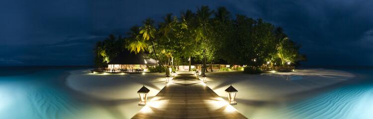 Ihuru Island panoramic view by night
