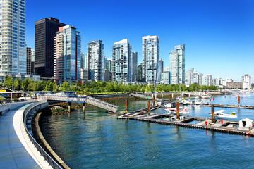 Vancouver Skyline mit Coal Harbour, Kanada