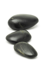 Black pebble stones
