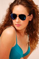 Cute and stylish beach girl