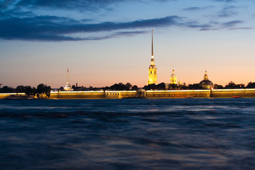 Peter and Paul Cathedral in the white nights