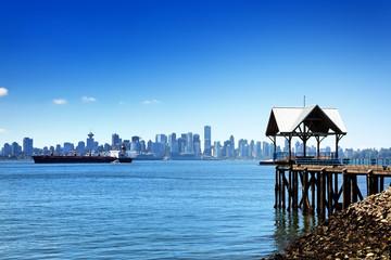 Blick von North Vancouver auf Skyline Vancouver, Kanada