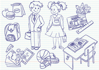 Education ( school) doodles set