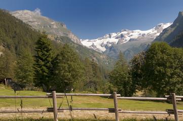 Veduta sul Monte Rosa