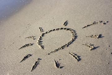 Sun Symbol in Sand