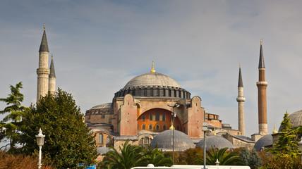 Estambul panoramica de Santa Sofia y sus Jardines