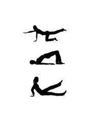 Fitness woman silhouettes