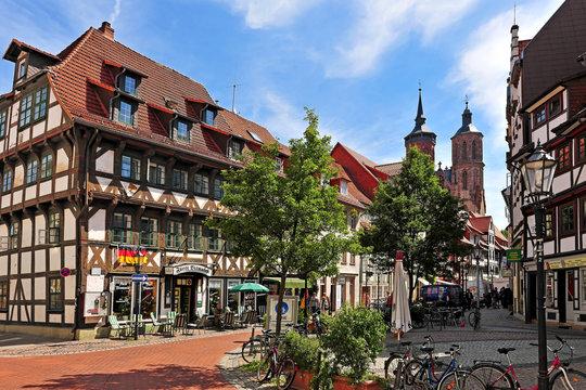 Fachwerkhäuser in der Johannisstraße in Göttingen