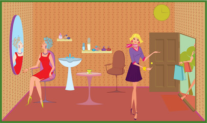 Beauty salon welcome