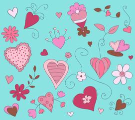 Hand drawn vector floral illustration